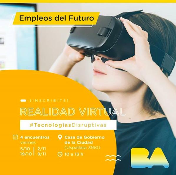 Realidad virtual - Virtual reality - Cursos - Workshops - Talleres - Gobierno de la Ciudad de Buenos Aires - Javier Moreno Gurrea - Dalmiro Maggioli