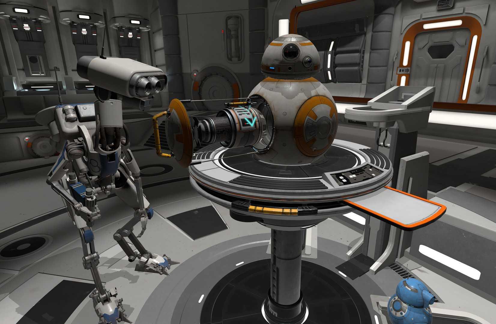 VR app: Star Wars droids repair bay