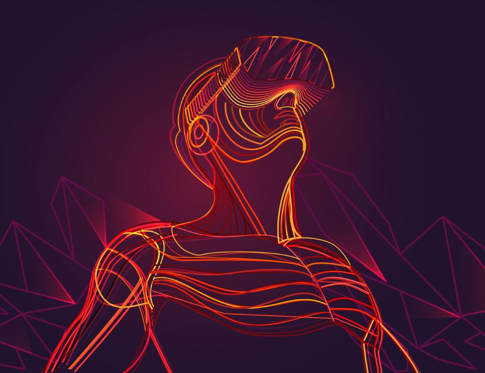 Realidad virtual traslúcido